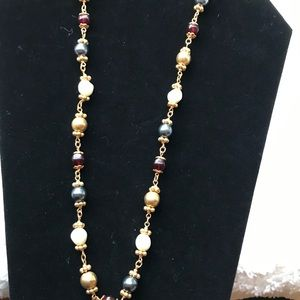 36 inch beaded fashion necklace